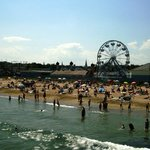 Beach and ferris wheel