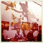  Where you eat breakfast - great art on the walls