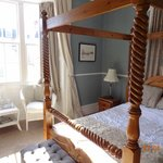 Our lovely bedroom with a 'reading area' in the bay window.