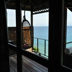 Sea cliff chalet balcony