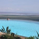 Fantastic pool overlooking Lake Manyara!