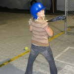 Fun in the Action City batting cage!