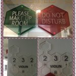  The magnet w do not disturb n pls clean up sign ~ cool