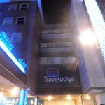 Night view of Travelodge Coventry