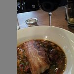 Pork Belly with white beans and chorizo