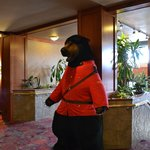  RCMP bear greets guests in Hotel lobby
