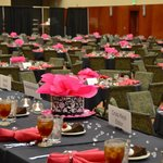 Plenty of room for well over 550 at back to back convention meals