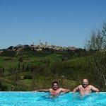 The View of pool to San Gimignano
