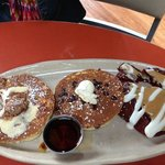  Pancakes (red velvet, upside down pineapple, chocolate chip)