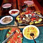 Delicious BBQ platter & more.
