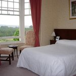 Gold room.  King bed.  e/suite bathroom. T.V. & Refreshments