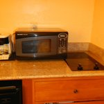 microwave and hot plate