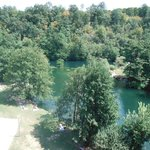 View of  River Mrežnica from Zeleni Kut hotel room balcony