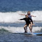  Me and my big sister :-) Surfing side by side!