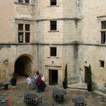 Interior courtyard of the Chateau