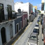 View of Calle del Sol from our balcony