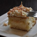Coconut cake extraordinaire at the Black Bird