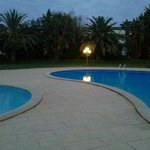  the pool area by night