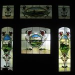  Stained glass front door panels