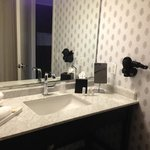 The bathroom was clean and spacious. It could have used another light for doing makeup, though.