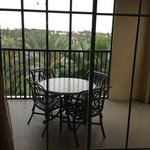  screened balcony with a view