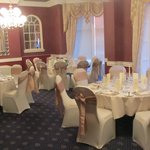 Lowther room set for wedding meal