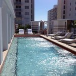  The wonderful rooftop pool, can see the ocean at the other end of the pool