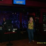  Kareoke on Wednesdays! This lady sang Barbra Streisand &amp; she was good!