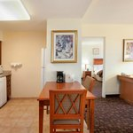  Each of our suites comes with a seperate living area and kitchenette.