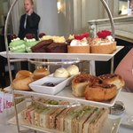 A lovely selection of cakes (with the stuffy maître d'!)