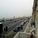  view from balcony showing on-street parking