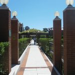  Walkway between the villas.