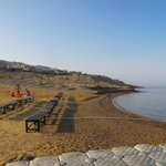 beach area near Dead Sea