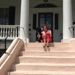 Sailor and Mom on the front steps