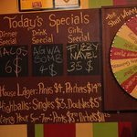 Daily Specials and the Famous Shot Wheel