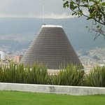 museum dome with panorama fo Quito