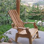 Grahams amazing self built rocking chair - hard to leave