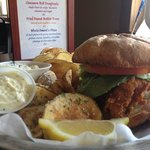 Walleye Sandwich Special with Homemade Potato Chips
