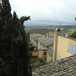 The view from our room... Below, off the neighbouring Viccolo dei Dolci is a great potter's stud