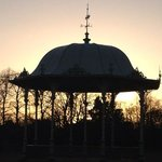 Bandstand at sun set