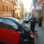  Parking in front of the Hotel in Italian way!?
