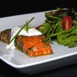 Salmon with salad
