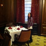  standing at the table JFK proposed to Jackie!! (in the hotel)