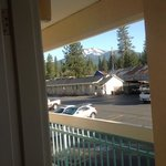  Gorgeous view of Mt. Lassen? from our second floor room.