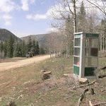 Last chance to phone home (it works!) on road into Dunton