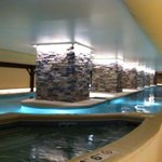 indoor pool with cold tub and hot tub.