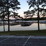 the marina at sundown