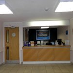 Reception counter  of Travelodge Stirling M80