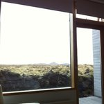 View of the lava field from room 15