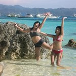  frolicking in Diniwid beach
